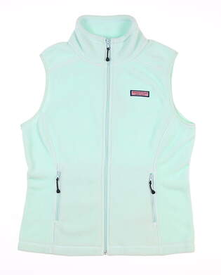 New Womens Vineyard Vines Westerly Vest X-Small XS Wintermint MSRP $98 2O0067-410