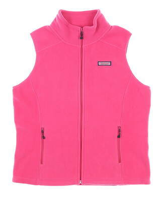 New Womens Vineyard Vines Westerly Vest Small S Pink MSRP $98 2O0067-658