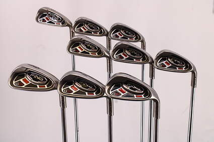 Ping G15 Iron Set 3-PW GW Ping AWT Steel Stiff Right Handed Maroon Dot 39.5in