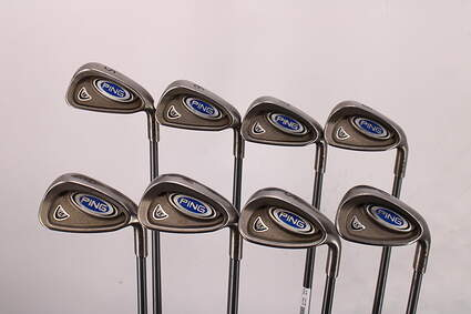 Ping i5 Iron Set 5-PW GW SW Ping TFC 100I Graphite Stiff Right Handed Maroon Dot 39.25in