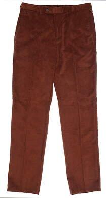 New Mens Peter Millar Corduroy Pants 36 x36 Brown MSRP $145 MF14B91