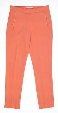 New Womens Peter Millar Pull On Pants Small S Orange MSRP $80 LF18B48