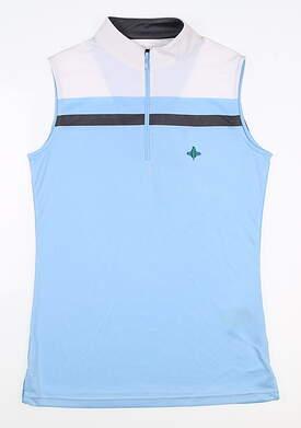 New W/ Logo Womens Footjoy Sleeveless Golf Polo X-Small XS Blue MSRP $80 24705