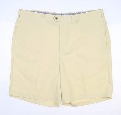 New W/ Logo Mens DONALD ROSS Golf Shorts 42 Yellow MSRP $90 DR065