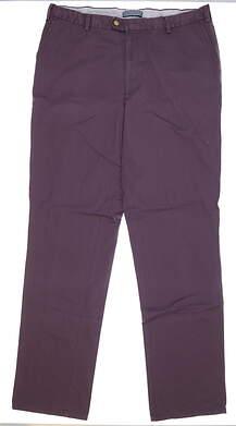 New Mens Peter Millar Twill Cotton Golf Pants 40 x36 Cabernet MSRP $80 MF15B84