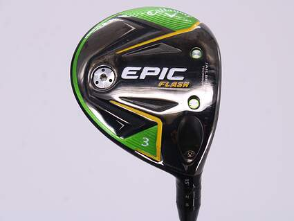 Callaway EPIC Flash Fairway Wood 3 Wood 3W 15° Project X HZRDUS Smoke iM10 60 Graphite Regular Right Handed 43.0in