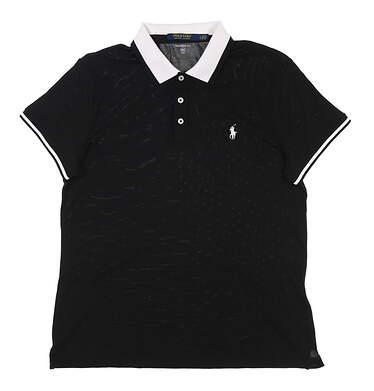 New Womens Ralph Lauren Golf Polo Large L Black MSRP $98