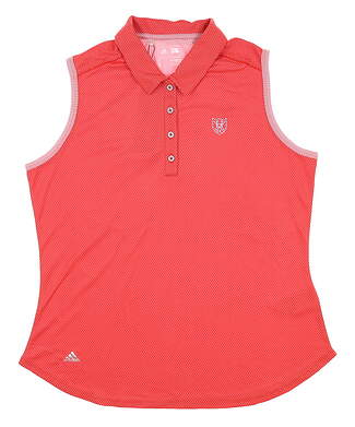New W/ Logo Womens Adidas Sleeveless Golf Polo X-Large XL Red MSRP $80 BC5696