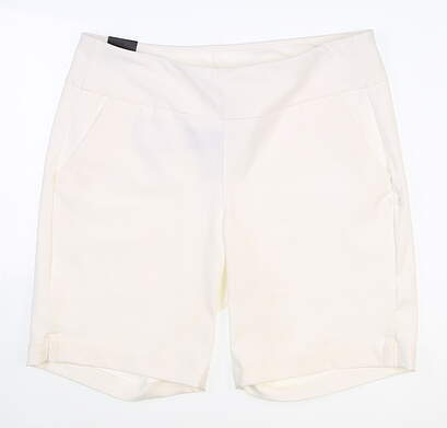 New Womens Under Armour Pull On Golf Shorts Large L White MSRP $70