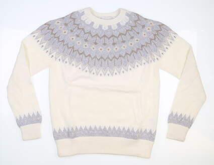 New Womens Peter Millar Sweater Medium M White MSRP $225 LF19S08