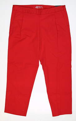 New Womens Nike Cropped Golf Pants 8 Red MSRP $110 725696