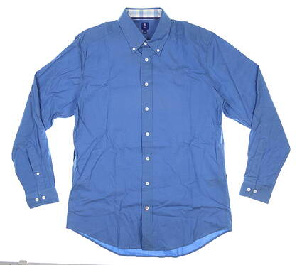 New W/ Logo Mens Footjoy 1857 Button Up Large L Blue MSRP $175 27869