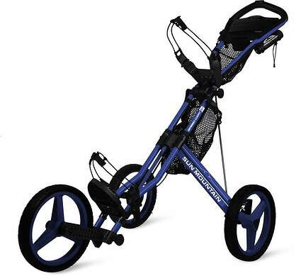 Brand New 10.0 Sun Mountain Speed Cart GX Push and Pull Cart Big Sky Blue/White