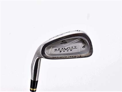 Cobra Gravity Back Single Iron 6 Iron Stock Steel Shaft Steel Regular Left Handed 37.5in