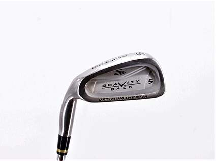 Cobra Gravity Back Single Iron 5 Iron Stock Steel Shaft Steel Regular Left Handed 38.0in