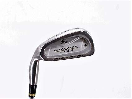 Cobra Gravity Back Single Iron 4 Iron Stock Steel Shaft Steel Regular Left Handed 38.5in