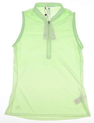 New Womens Adidas Novelty Sleeveless Polo Small S Green MSRP $60 EI7535