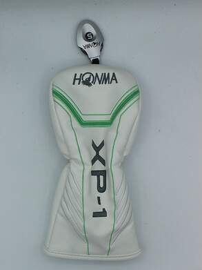 Honma Tour World XP-1 Ladies Fairway Wood Headcover w/adjustable tag White/Green/Silver