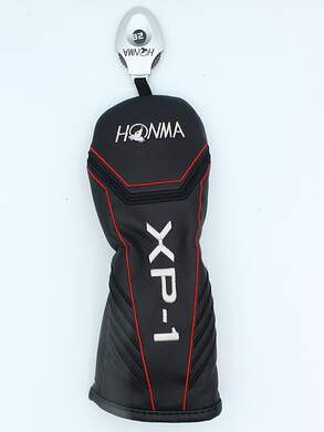 Honma Tour World XP-1 Hybrid Headcover w/adjustable Tag Black/Red/Silver