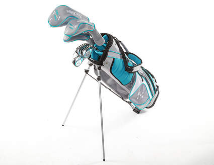 Tour Edge Lady Edge 18 Starter Golf Set Tall +1 Inch Teal Graphite Right Hand