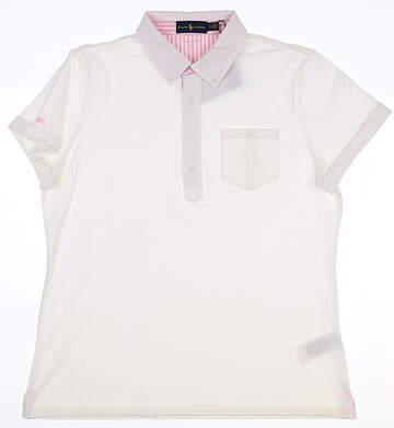 New Womens Ralph Lauren Polo Large L White MSRP $100