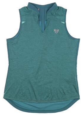 New W/ Logo Womens Under Armour Sleeveless Golf Shirt Medium M Green MSRP $70