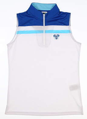 New W/ Logo Womens Footjoy Sleeveless Golf Polo Small S White MSRP $80 25470