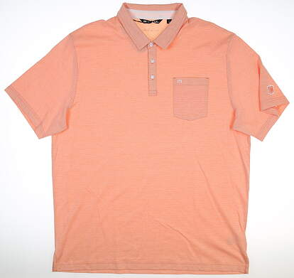 New W/ Logo Mens Travis Mathew Panka Polo XX-Large XXL Persimmon 1MQ002