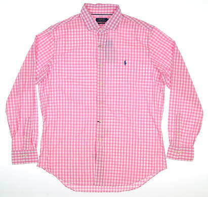 New Mens Ralph Lauren Button Up Large L Pink MSRP $105