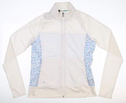 New Womens Adidas Rangewear Full Zip Mock Neck Small S Multi MSRP $75 CY7324