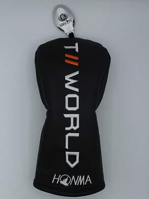 2019 Honma Tour World TW747 Fairway Wood Headcover w/Adjustable Tag Black / White