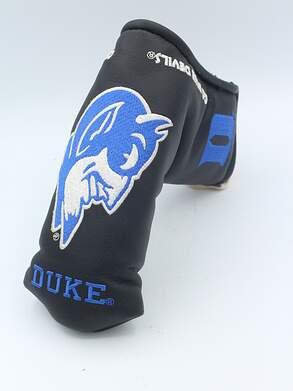 Duke Blue Devils Leather Blade Putter Headcover Black/Blue