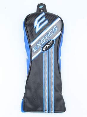 Tour Edge Exotics EXS Leather Hybrid Headcover w/Interchangeable Tag Black/Blue