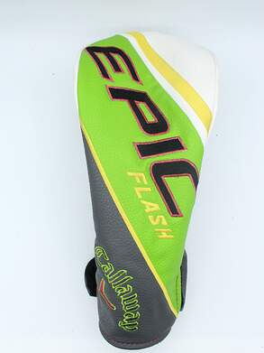 Callaway EPIC Flash Custom Driver 1W Leather Headcover Green/White w/Pink Stitching