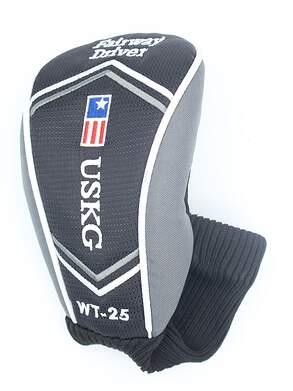 US Kids WT-25 Fairway Driver Headcover Black/Silver