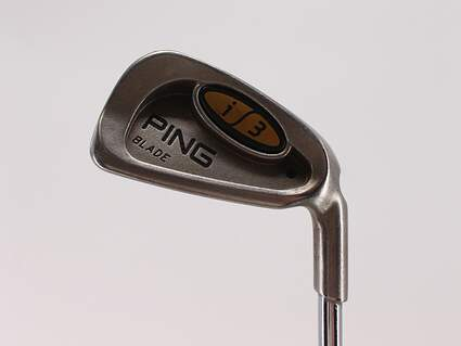 Ping i3 Blade Single Iron 4 Iron Rifle 6.0 Steel Stiff Right Handed Black Dot 39.5in