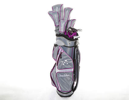 Tour Edge Lady Edge 18 Complete Golf Club Set Purple Standard Right Handed