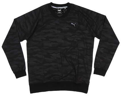 New Mens Puma Embossed Wind Shirt Medium M Puma Black 597595 01 MSRP $75