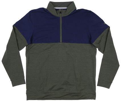 New Mens Puma Warm Up 1/4 Zip Pullover Medium M Thyme/Peacoat 595803 09 MSRP $75