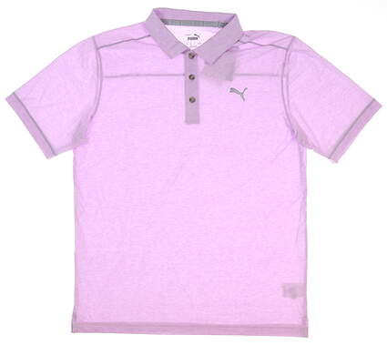 New Mens Puma Rancho Polo Medium M Lupine Heather 598542 11 MSRP $65