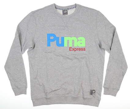 New Mens Puma Express Long Sleeve Crew Neck Medium M Gray 598430 01 MSRP $80