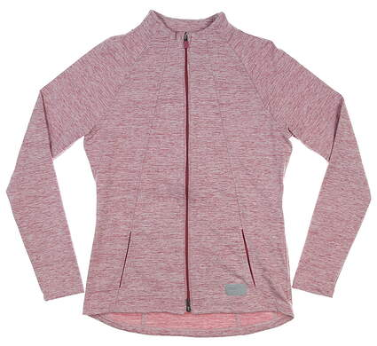 New Womens Puma Cloudspun Warm Up Jacket Small S Pink MSRP $80 595852 07