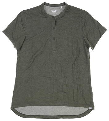 New Womens Puma Essence Polo Small S Thyme 597690 04 MSRP $55