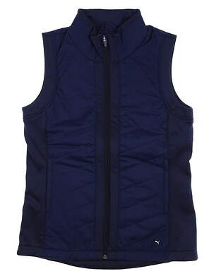 New Womens Puma Primaloft Vest Small S Peacoat MSRP $70 597710 02