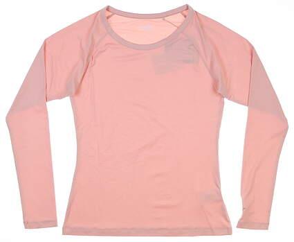 New Womens Puma Long Sleeve Sun Crew Small S Peachskin 577901 06 MSRP $60