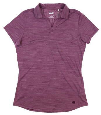 New Womens Puma Cloudspun Free Polo Small S Dark Purple 597695 02 MSRP $55