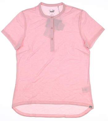 New Womens Puma Essence Polo Small S Peachskin 597690 02 MSRP $55