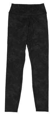 New Womens Puma Floral Dye Pants Small S Puma Black MSRP $80 597723 01