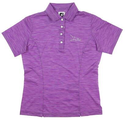 New W/ Logo Womens Footjoy Interlock Golf Polo X-Small XS Grape MSRP $80 27418
