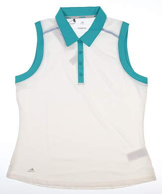 New Womens Adidas Merch Sleeveless Polo Medium M Multi MSRP $60 CW6665